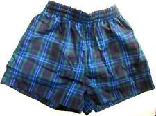 Navy Blue Checked School Swimming Swim Board Trunks Shorts Age 11 12 13 14 Years