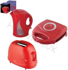 RED SANDWICH TOASTIE MAKER /2 SLICE TOAST TOASTER / CORDLESS JUG KETTLE ELECTRIC