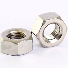 20 PACK STAINLESS HEXAGON HEX FULL NUTS M1.6 M2 M2.5 M3 M3.5 M4 M5 M6 M8 M10 M12
