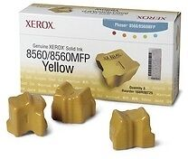 Genuine Xerox 108R00725 - 3 Yellow Solid Ink Sticks for Printers