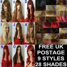 Long Wig Natural Curly Straight Wavy Synthetic Fashion Natural Ladies Hair Wig
