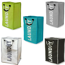 Folding Laundry Basket Bag Bin Storage Hamper Bag Comes in 3 Colors New Design