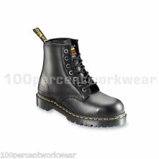 Dr Martens Icon 7B10 SSF Work Safety Black Leather Boots Shoes Steel Toe Mens