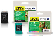 Remanufactured HP338/HP343 Black/Colour Ink Cartridges for Officejet 6200 &more