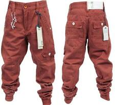 NEW BOYS ETO BRAND RED RUST CUFF CHINO JEANS. ALL SIZES. *REDUCED BARGAIN SALE*