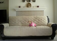Bonded Micro Suede fully quilted Pets Sofa Love seat arm chair slipcovers throw