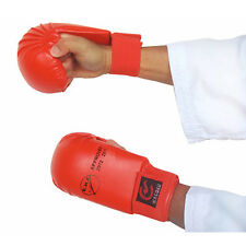 EKF Approved Karate Competition Mitts BLUE Gloves Hand Set Martial Arts