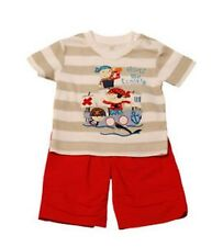 BABY BOYS 2 PIECE SET - T-shirt and Trouser 0-3M, 3-6M, 6-12M