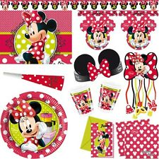 Minnie Maus Kindergeburtstag Party Kinderparty Minni Mouse Deko Geburtstag Set