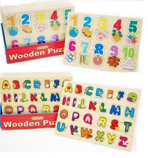 Educational Wooden Childrens Kids Learning Letters ABC Alphabet or 123 Numbers