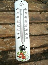 THERMOMETRE EMAILLE 25cm Div.motifs1ER PRIX EMAIL VERITABLE NEUF EXT/INT FRANCE