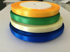 2 x ( 23 yard ) rolls of 6mm Satin Ribbon - Orange, Yellow, Green or Blue