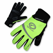 Optimum Nitebrite Cycling Winter Cold Weather Gloves Waterproof Windproof
