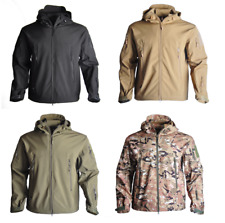 Softshell field jacket, tactical soft shell with hood. Security Camping Hiking