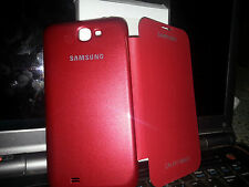 NEW DAIRY FLIP LEATHER CASE COVER POUCH  for Samsung Galaxy Note2 / N7100-RED