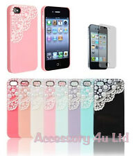 Cute Pearl Lace Ice Cream Hard Back Case Cover for Iphone 4S/5S/5C + Screen Film