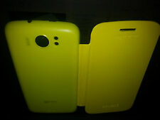 YELLOW PU Leather Flip Case Battery Cover FOR MICROMAX SUPERFONE CANVAS2 A110
