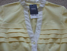 SALE * NEW * NEXT PALE YELLOW BLOUSE 8 - 20 rrp £18!