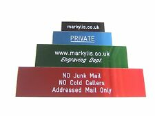 ENGRAVED ANODISED ALUMINUM SIGNS / PLAQUES - CUSTOM NUMBER / SIGN PLAQUE 200x50