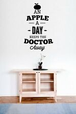 'An apple a day kepps the doctor away' - Large Vinyl Wall Stickers Many colours.