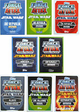 Force Attax Clone Wars Serie 1 2 3 4 und 5  Movie Card Serie 1 2 3 alle Karten