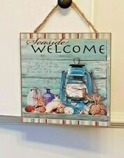Beautiful Seaside Chic Thermometer Hanging Wall Plaques 3 Styles