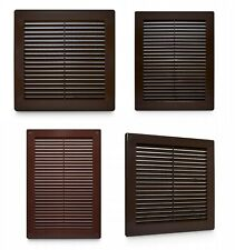 Brown Air Vent Grille Wall Ventilation Cover Louvre Grilles 150mm 250mm 300mm