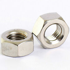 A2 STAINLESS STEEL FINE PITCH HEXAGON FULL NUTS HEX NUT DIN 934 M8 M10 M12