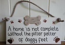 SHABBY CHIC PLAQUE ALL BREEDS DOG BY DRIFTWOOD DAISIES DOG LOVERS PERSONALIZED