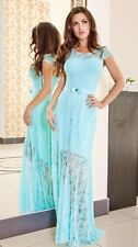 New Ladies Womens Cocktail Party Bridesmaid Evening Lace Prom Formal Maxi Dress