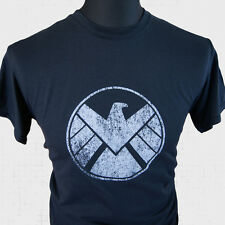 Agents of Shield Super Hero T Shirt Marvel Avengers Captain America Iron Man blk