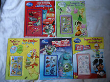 DISNEY STICKER ACTIVITY BOOKS -A CHOICE OF 5 - PLEASE CHOOSE FROM DROP DOWN MENU