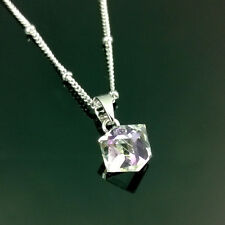 17'' Cube Crystal Necklace & Pendant  With Swarovski Crystal Elements 5 Colours