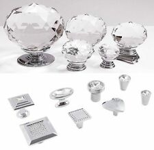 BEST Quality Crystal Glass Door Knobs Drawer Cabinet Furniture Kitchen Handle