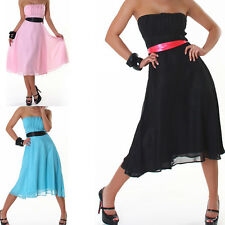 Women's Bandeau Dress Evening Dress Party Cocktail Dress Dress with Loop XS-XL