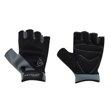 Dunlop Fingerless Grey+Black Bike Mitts/Cycling Gloves - Road / Mountain Biking