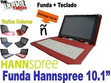 "Funda con Teclado Tablet Hannspree 10.1"" SN1AT71B Quad Core colores a elegir"