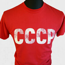 CCCP Retro Army T Shirt Vintage Cool USSR Russian Soviet Union  Hipster Retro