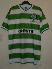 Bnwt Celtic Home Retro 1985 SS 100th Cup Final Football Shirt Made By Score Draw