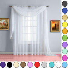 Voile Scarves 3m Or 5m Lengths ~ Net Curtains Swags & Scarf Voile Panel
