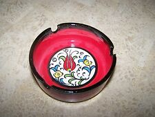 Hand Painted and Handmade Iznik Ottoman Style Turkish Decorative Ashtray 9cm
