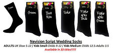 Black Vinyl Print WEDDING BRIDAL SOCKS (3 Sizes/37 Titles)