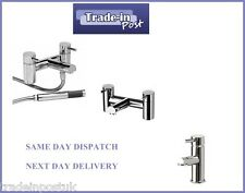 Dalton Modern Bathroom Basin Bath Shower Mixer Tap Pack - 10 Year Guarantee