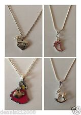 Necklaces ladies/childrens silver Snow white,rocking horse, i love you,footprint