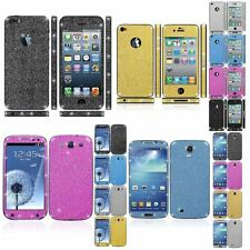 Sparkling Body Glitter Bling Sticker Phone Case For Samsung Galaxy&Apple iPhone