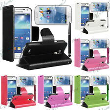PORTEFEUILLE COQUE ETUI HOUSSES CUIR SUPPORT VIDEO SAMSUNG GALAXY S DUOS S7562