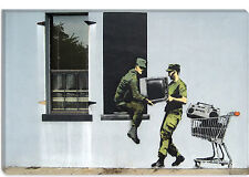 Banksy Looting Soldiers Canvas Print Picture Wall Art - 10 SIZES!