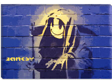Banksy Smiley Death Grim Reaper Canvas Print Picture Wall Art - 10 SIZES!