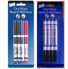 Dry Wipe White Board Markers Marker Pens 4x Non Toxic Bullet Tip