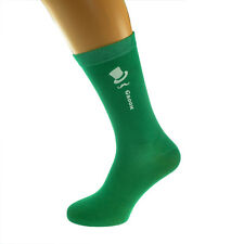 Bright Green Coloured Wedding Socks,Top Hat and Moustache Design Ref Col Top Hat